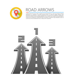 Road with an arrow up vector