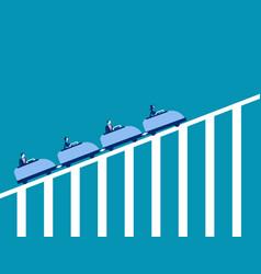 Roller coaster economy concept business vector