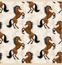 seamless pattern with beautiful horses vector image
