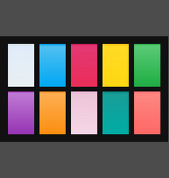 set gradient backgrounds material design vector image