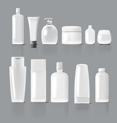 set of cosmetic products package collection of vector image