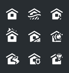Set of housing accident icons vector