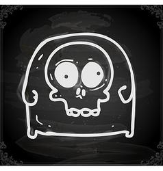 Skull Tee Drawing on Chalk Board vector