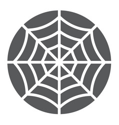 spider web glyph icon halloween and decoration vector image