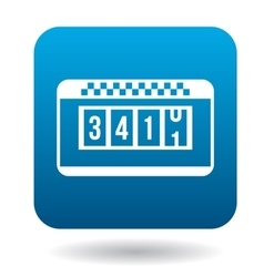Taximeter icon in flat style vector image