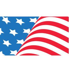 united states america waving flag flat design vector image