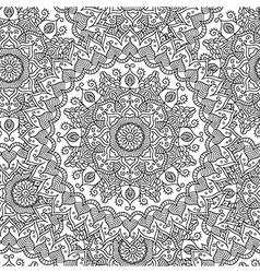 Vintage mandala seamless pattern vector