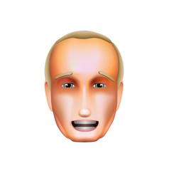 vladimir putin icon october 30 2018 vector image