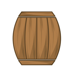 wool barrel traditional container icon vector image
