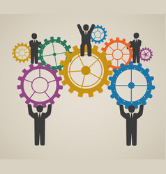 workforce team working business people vector image