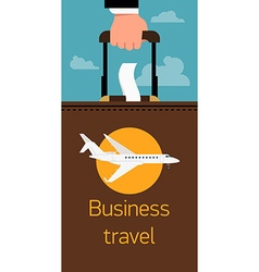 Business Travel Poster vector image vector image