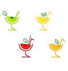 fruity drinks vector image vector image