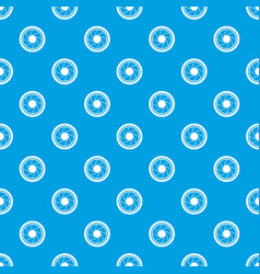 photographic objective pattern seamless blue vector image vector image