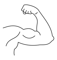 Strong hand muscle icon simple style vector image vector image