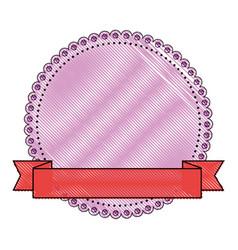 blank decorative stamp vector image