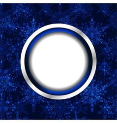 Blue Christmas Snowflake Background vector image vector image