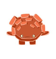 cute upset rock element cartoon emotions vector image vector image