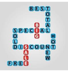 Sale crossword vector