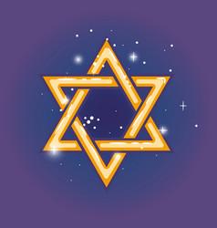 star of david for hanuka vector image