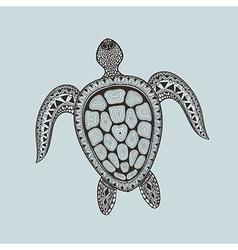 Zentangle stylized turtle Hand Drawn aquatic vector image vector image