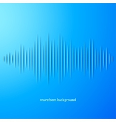 Blue paper sound waveform with shadow vector image vector image