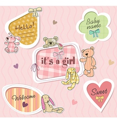 Childrens borders for girl vector image vector image