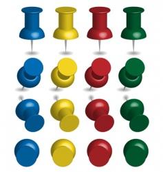 color pushpins vector image