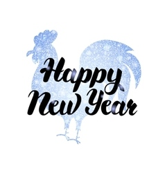 Silver New Year Rooster Poster vector image vector image