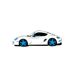Abstract race car vector image vector image