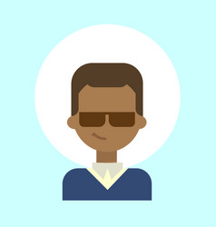 African american male wearing sun glasses emotion vector