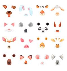 animal mask animalistic masking face vector image