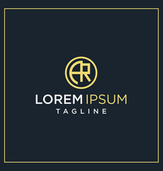 Ar or er circle logo vector