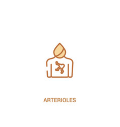 Arterioles concept 2 colored icon simple line vector