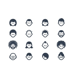 Avatar and user icons vector image