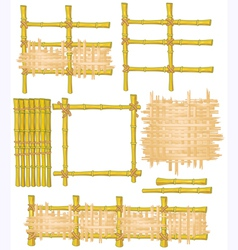 bamboo elements vector image