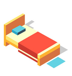 Bed isometric vector