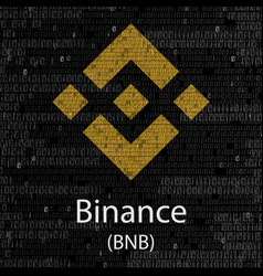 binance cryptocurrency symbol vector image