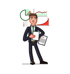 business sketch man vector image