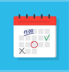 Calendar deadline or event reminder notification vector