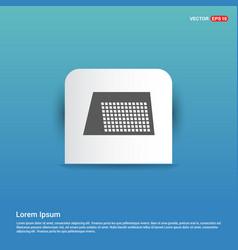 calendar web icon - blue sticker button vector image