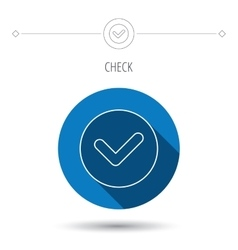 Check confirm icon Tick in circle sign vector image
