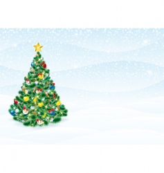 Christmas tree card vector image