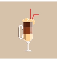 Coffee Cocktail Isolated Icon From Set Of vector