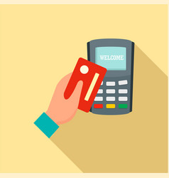credit card pay device icon flat style vector image