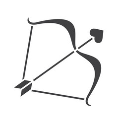 cupids bow and arrow glyph icon vector image