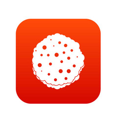 Cutlets icon digital red vector