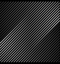 Diagonal different white stripes on a black vector