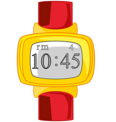 Electronic watch on white background is insulated vector