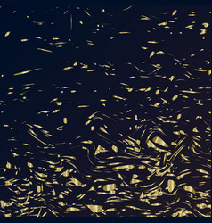 falling golden confetti on a dark background vector image