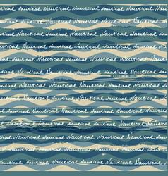 Fashion nautical pattern vector